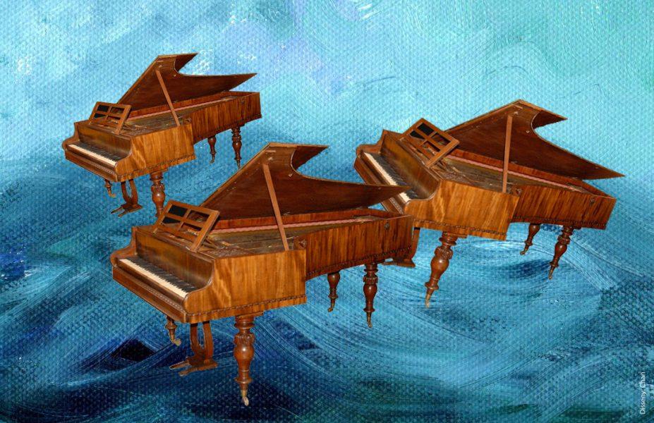 Pianos Clementi navegant