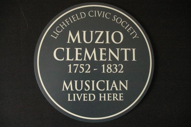 Lichfield commemorative plaque